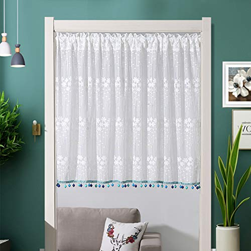 Fabric Lace Short Curtain,Balcony Partition Half Drapes for sale  Delivered anywhere in Canada