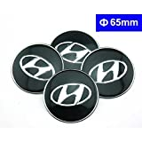 hyundai accent wheel center cap - 4pcs C075 65mm Black Car Styling Accessories Emblem Badge Sticker Wheel Hub Caps Centre Cover HYUNDAI ELANTRA i30 SONATA ix35 Santa fe Solaris TUCSON MISTRA Avante Azera ACCENT VERNA