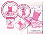 Ballerina Birthday Party Tableware Plates and Napkin Bundle With 24 Candles (Deluxe)