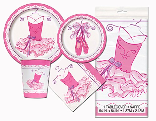 Ballerina Birthday Party Tableware Plates and Napkin Bundle With 24 Candles -