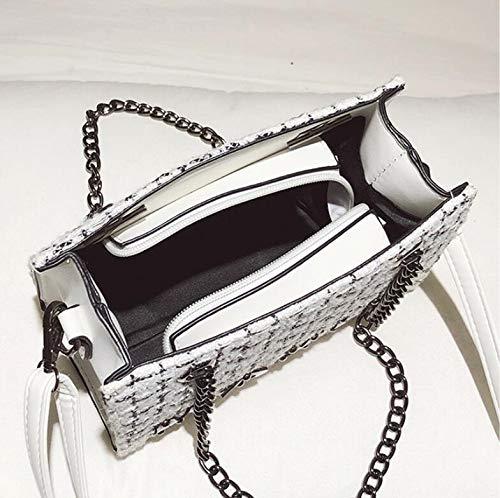 a a a donna per Borsa Borsa da matrimoni Moda per per club tracolla Borsa Borsa tracolla tessitura catena elegante White Retro Pzgtq