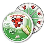 The Laughing Cow, Spreadable Cheese Wedges, 6oz Round (Pack of 4) (Choose Flavor Below) (Creamy Light Swiss)
