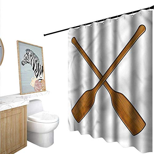 BlountDecor Oar Shower Curtain Customized Wooden Canoe for sale  Delivered anywhere in USA