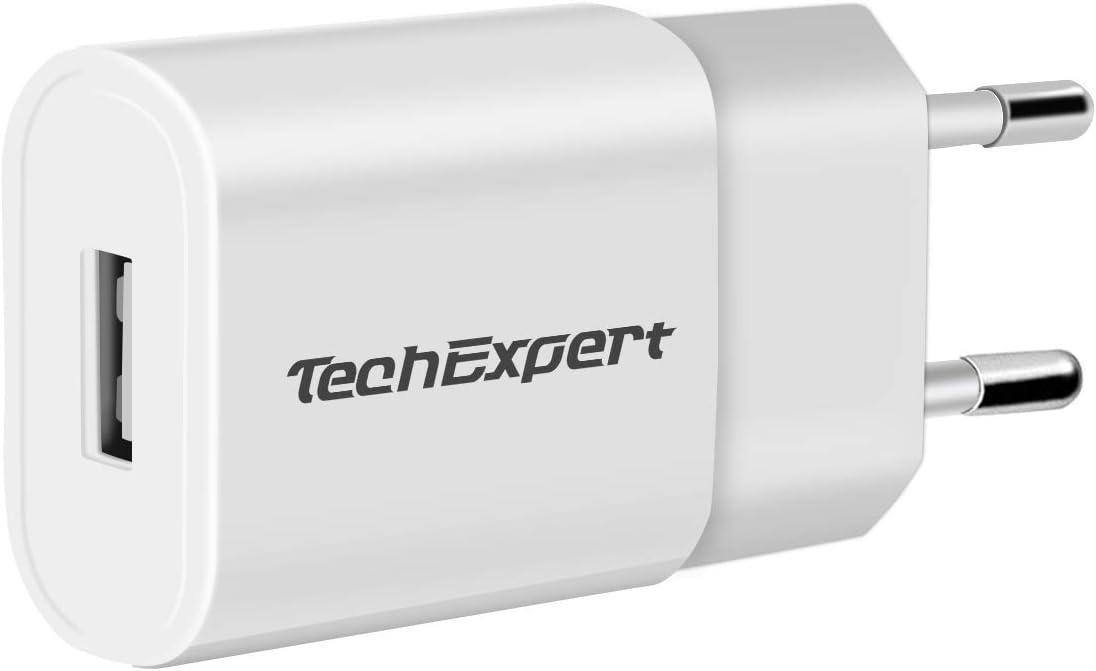 Chargeur Secteur vers USB pour liseuses iPhones iPods Smartphone 5V 1A Blanc