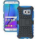 DMG Rugged Hard Back Cover Kickstand Armor Case for Samsung Galaxy S7 (Blue)