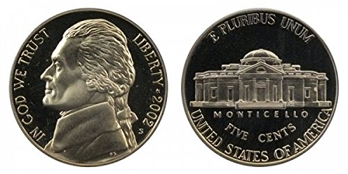 2002 S Proof Jefferson Nickel PF1