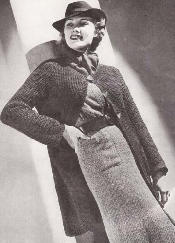 Runabout Swagger Coat Knit Knitting Pattern