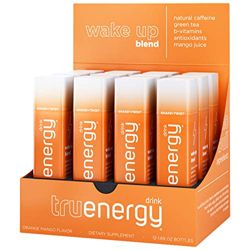 Tru Energy | All Natural Caffeine Energy Shots | Antioxidants Plus Vitamin B | Wake Up Blend (Tropical Orange Mango, 12…
