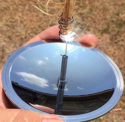 ulooie al aire libre Camping supervivencia Kit de iluminación para Solar Spark Mechero reflector parabólico de