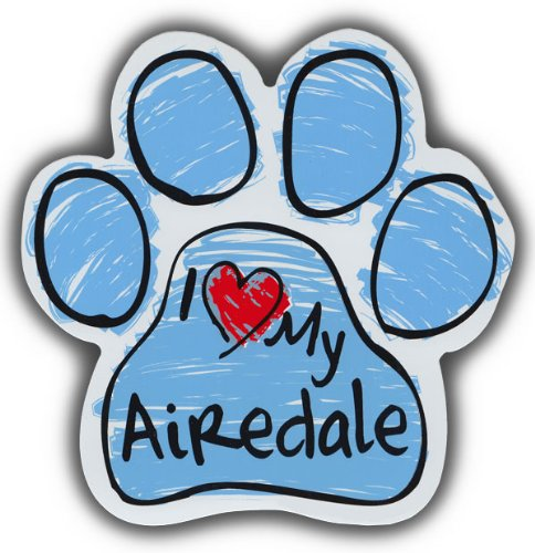Airedale Magnet (Scribble Paw Dog Magnets: I LOVE MY AIREDALE TERRIER | Cars, Refrigerators)