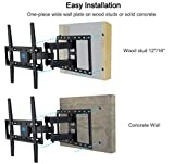 Mounting Dream MD2380 TV Wall Mount Bracket for most 26-55 Inch LED, LCD, OLED and Plasma Flat Screen TV, with Full Motion Swivel Articulating Dual Arms, up to VESA 400x400mm and 99 LBS with Tilting Variant Image