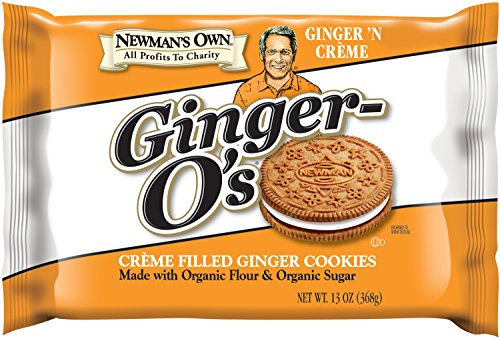 Ginger Cookies - Newman's Own Ginger-O's, Crème Filled Ginger Cookies, 13-Ounce Packages (Pack of 6)