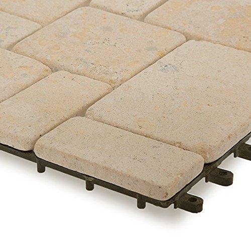 Garden Winds Venetian Stone Deck Tiles Box Of 10 Buy