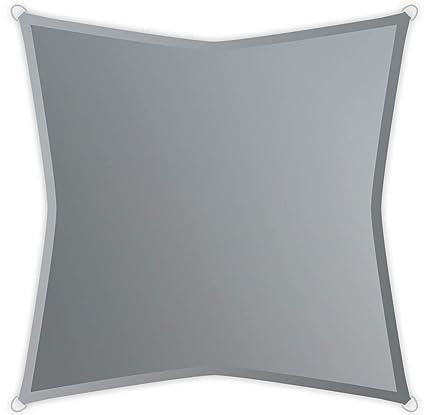 Windhager Sonnensegel Sonnenschutz Sunsail ADRIA Quadrat 3,6 x 3,6 x 3,6 m ...