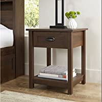 Better Homes and Gardens Lafayette Night Stand, English Walnut Finish | Open Shelf Provides Additional Storage
