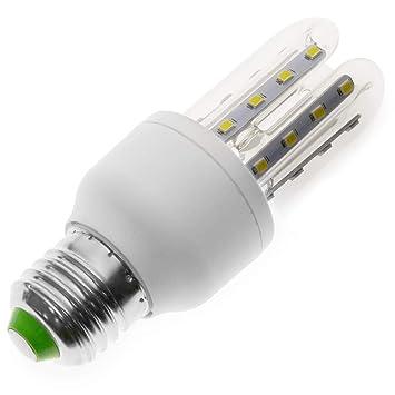 Cablematic - Bombilla LED de 5W E27 luz fría día 6000K Formato Alargado