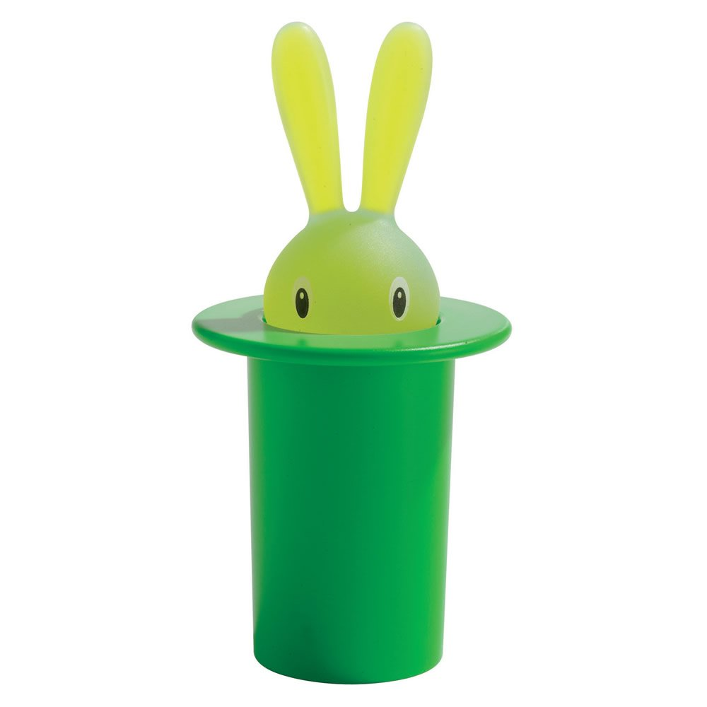 A di Alessi Magic Bunny Toothpick Holder, Green by Alessi