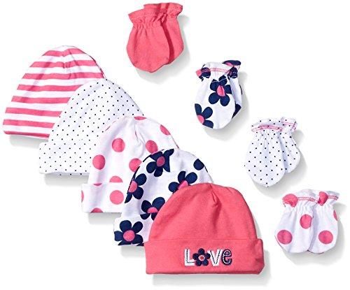 gerber-baby-girls-9-piece-cap-0-6m-and-mitten-0-3m-bundle-flower-newborn