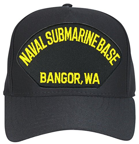 Navy Submarine Base Bangor (Letters Only) Military Cap with Custom Back Text - Letters Only Ball Cap