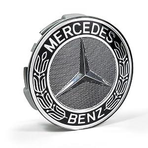 Mercedes benz black classic logo wheel center for Mercedes benz center caps