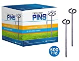 Sandbaggy 6-inch Circle Top Pins~ Landscape Staples SOD Staples Garden Stakes Weed Barrier Pins (500 Pins)