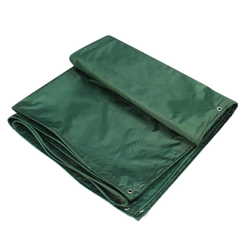MSF Zeltplanen Outdoor Camping PVC-Plane Blatt Plane 100% doppelt wasserdicht und UV-geschützt Blatt Tarps Grün Shade Cover Sonnenschirm Zelt, 450g   m², Dicke 0,45 mm (größe   4x8m)