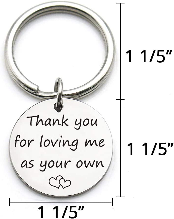 XGAKWD Step Mom Mother Gift Thank You for Loving Me as Your Own Mom in Law Gifts Idea for Mothers Day from Husband Daughter Son Kids