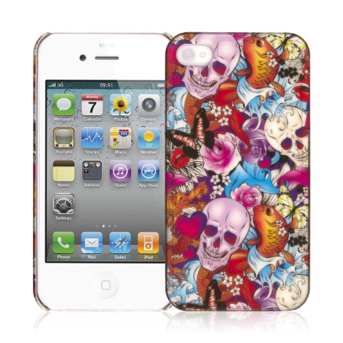 EMPIRE Signature Series One Piece Slim-Fit Case Tasche Hülle for Apple iPhone 4 / 4S - Tattoo Chaos