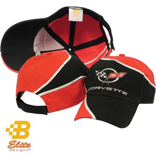 C5 Embroidered Red And Black Wrapped Corvette Hat Corv0014mropo