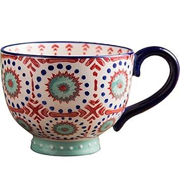 Rentzu Una Gran Taza De Desayuno Taza De Avena Tazón De Cereales A Granel De Taza De Leche Taza De Cerámica Taza Taza De Café,Bowl: Amazon.es: Hogar