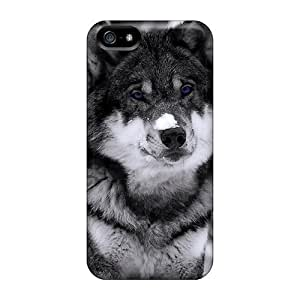 Durable Defender Case For Iphone 5/5s Tpu Cover(mysterious Wolf) by Maris's Diary