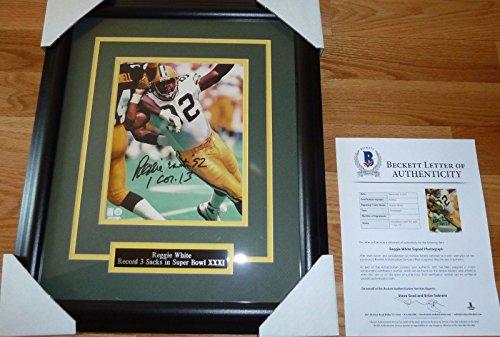 Signed Reggie White Photo - Beckett bas 8x10 Framed 2 - Beckett Authentication - Autographed NFL Photos
