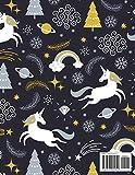 BLACK PAPER SketchBook & Journal: A Cute Unicorn