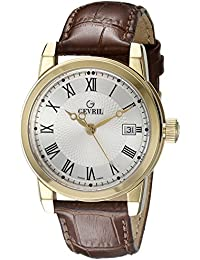Men's 2525 PARK Gold Ion-Plated Stainless Steel Watch with Leather Strap