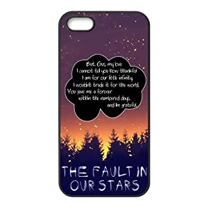 Quotes from The Fault in Our Stars Hard Rubber Phone Cover Case for iPhone 5,5S Cases