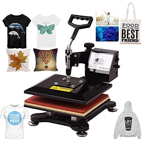 FESJOY 열 프레스 기계 10X12 인치 스윙 어웨이 콤보 디지털 열 프레스 열 전송 기계 티셔츠 의류 전화 케이스 가방