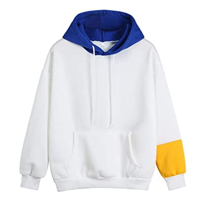 Women Hoodies,2019 New Womens Hoodie Sweatshirt Long Sleeve Letter Printed Hooded Pullover Tops Blouse(XL,Blue)