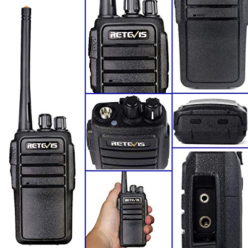 Retevis RT21 Two Way Radio Rechargeable 2 Way Radios UHF FRS 16CH VOX Scrambler Emergency Security Long Range Walkie Talkies with Secret Service Earpiece (10 Pack) by Retevis (Image #5)