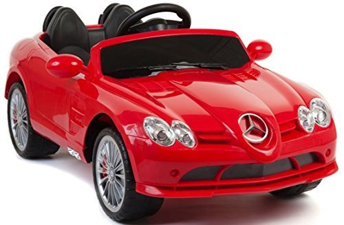 Licensed Mercedes Benz SLR Mclaren 722s 12v Kids Boys Girls Ride on Power Wheels Toy Car, Remote Control ,Music - Red - Girls Power Wheels Two Seats