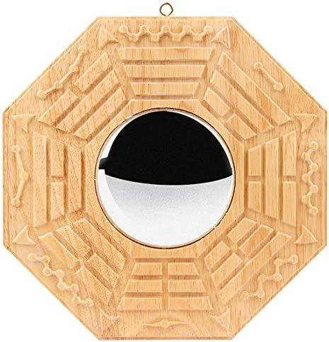 better us Feng Shui Wood Bagua Mirror 6.9 Inch Convex