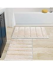HEBE Bathroom Rug Mat Shaggy Microfiber Bath Rug Mat Ultra Soft and Water Absorbent Bath Rug Machine Wash/Dry Plush Bath Mat for Bathroom, Living Room