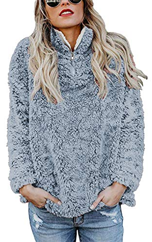 womens sweatshirt long sleeve 1 4 zip