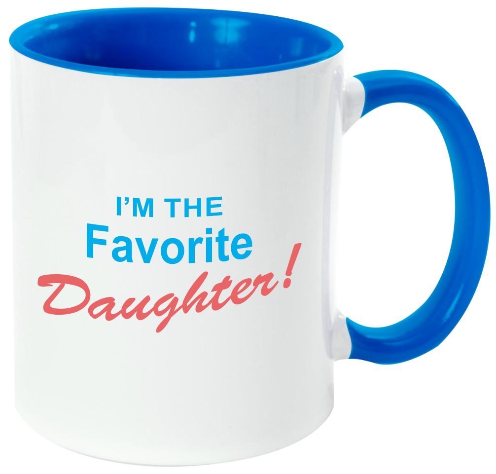 Rikki Knight I ' m The Favorite息子 – 面白い引用デザイン11オンスセラミックコーヒーマグカップ Light Blue DIS-mugs-LTBLUE-3667 B06XWPNXQZ Light Blue|favdaughter favdaughter Light Blue