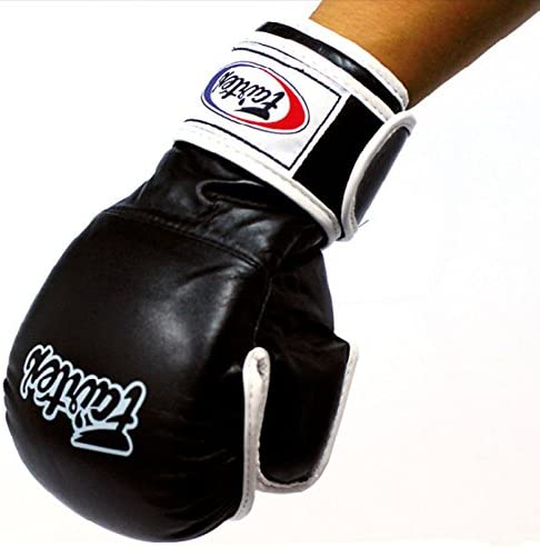 Bangplee/_Sport Fairtex Glory BGLG2 Gloves Boxing Muay Thai MMA Competition Lace up Design Black Gold Color Genuine Leather