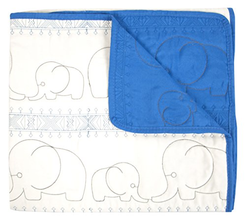 Quilted Baby Quilt - Tadpoles Quilted Baby Blanket, Blue, Small