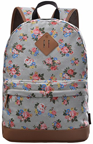 School Bookbags for Girls, Floral Backpack College Bags Women Daypack by (Patent Collection Zippered Clutch)
