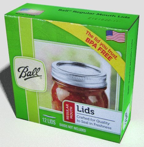 4 X Ball Regular Mouth Jar Lids, 12 Lids per Box (Set of 4 Boxes = 48 Total Lids)
