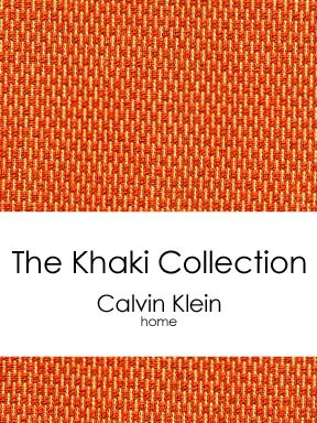 CALVIN KLEIN The Khaki Collection Textured Euro Cotton Pillow Sham, Paprika/Papaya