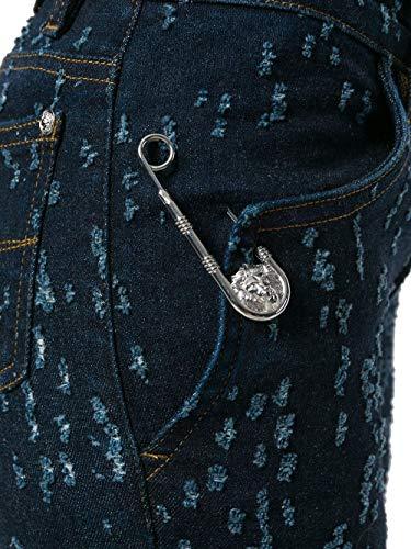 Bd40430bt21018blue Versus Jeans Blu Versace Donna Cotone BwRwpqxUTH