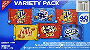 Nabisco Mini Snack Variety Pack, 40 Count